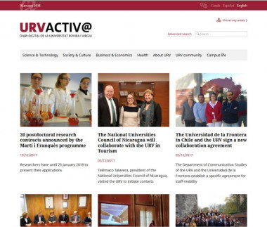 Digital newspaper of the Rovira i Virgili University of Tarragona