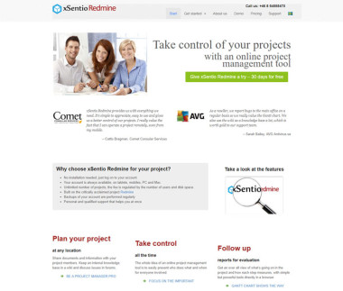 xSentio Redmine – project management