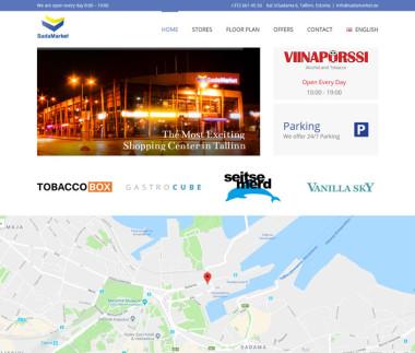 Shopping center website with custom WPML integration