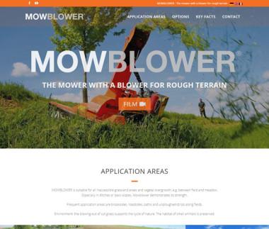 MOWBLOWER | Das Mähwerk mit Gebläse für schwieriges Gelände