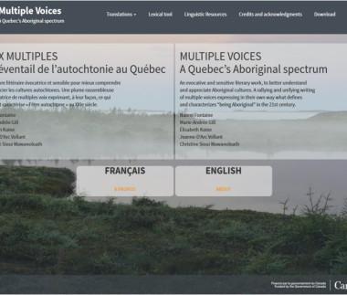 Voix Multiples, un évantail de l'autochtonie au québec