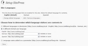 WPML Language setup