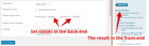 An example: customize the heading with the bold text.