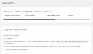 Activer le widget Sélecteur de langue