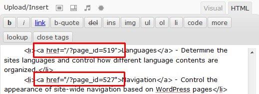 常规链接被 WPML 转变为黏性链接