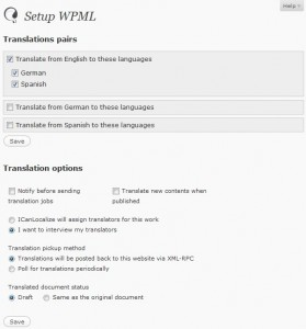 Translation options