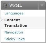 Translation Menu in WPML