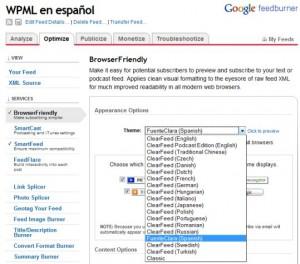 FeedBurner BrowserFriendly