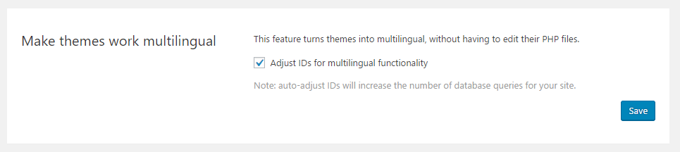 Adjust IDs for multilingual functionality