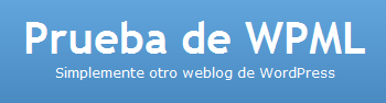 Site name and tagline in Spanish