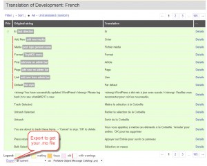 Come scaricare la traduzione di WordPress come file .mo