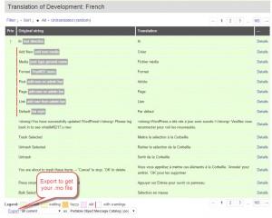 Comment télécharger la traduction WordPress en fichiers .mo