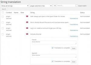 Testi della traduzione tramite String Translation di WPML