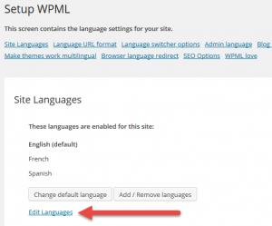 Click to edit languages
