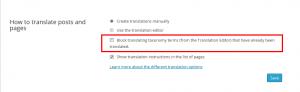 Bloquear tradução de termo de taxonomia já traduzido