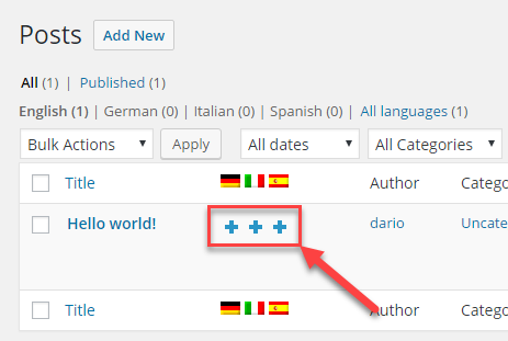 Adding a translation