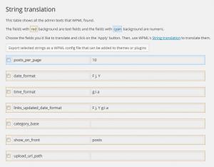 Exportar cadenas como archivo de configuración de WPML