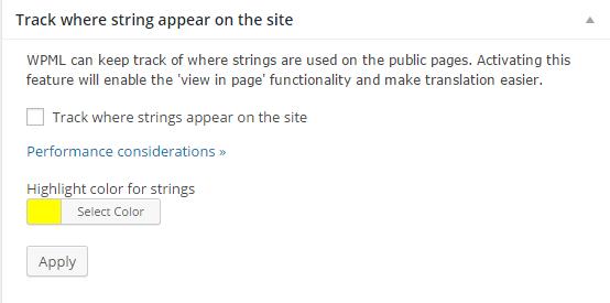 String Translation - WPML