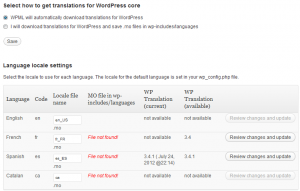 Download automatico per le traduzioni di WordPress