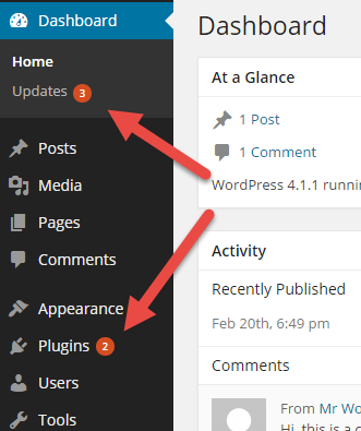 Las actualizaciones de WPML aparecerán en el panel como cualquier otra actualización de WordPress.