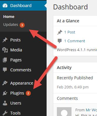 Les mises à jour de WPML apparaîtront comme toutes les autres mises à jour de WordPress dans votre tableau de bord d'administration