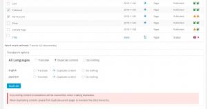 Duplicar contenido por medio del Panel de Control de Traducciones