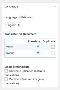 Adding translations when using Classic editor