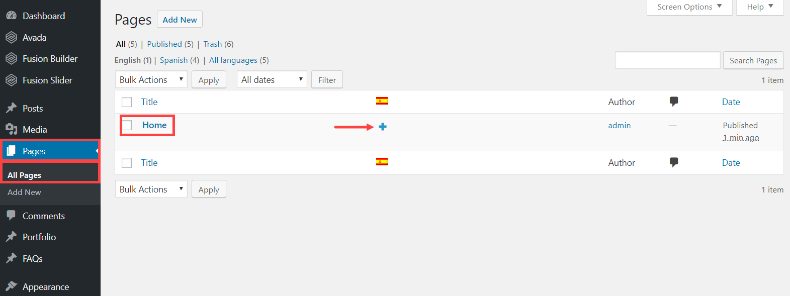 Using WPML to make your site built with Avada multilingual
