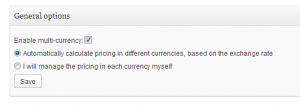 Enable Multi-Currency