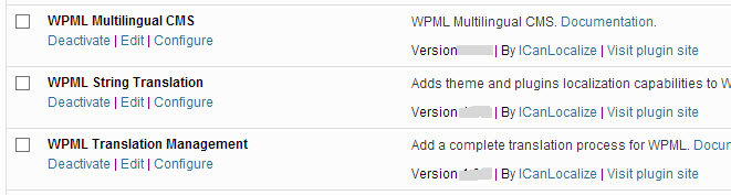 Componentes esenciales de WPML