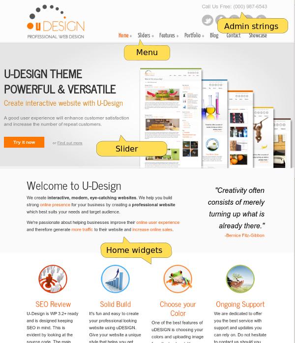 U-Design Home Page (top part)