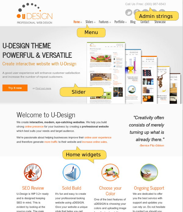 U-Design Home Page (top part)