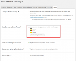 WooCommerce Multilingual Status And Alerts