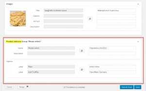 产品翻译页面上的产品插件部分