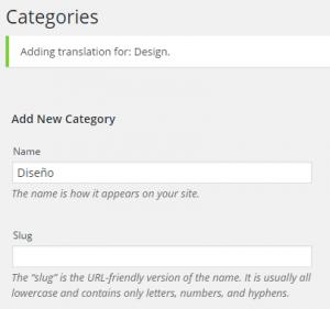 Agegar nueva categoría traducida (parte superior)