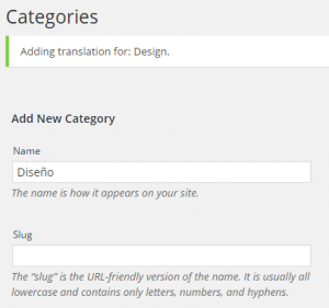 Add new translated category (top)