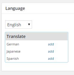 Adding the translation of a category