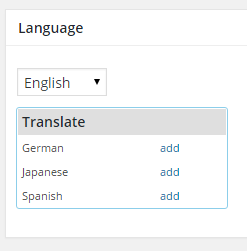 Adding the translation of a category