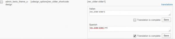 Translating the Revolution Slider shortcode