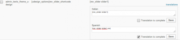Translating the Revolution Slider shortcode