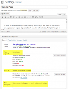 Page in English, with SEO attributes