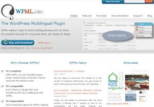 صفحة WPML.org الرئيسية - كما تظهر في المستعرض
