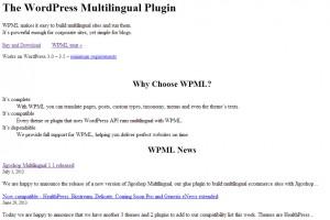 WPML.org Startseite ohne Gestaltung