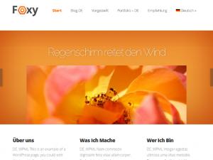 Translated Foxy home page, top