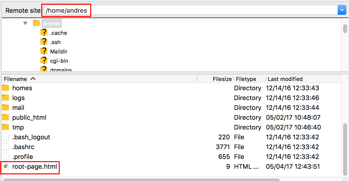 Upload a HTML file in your directory