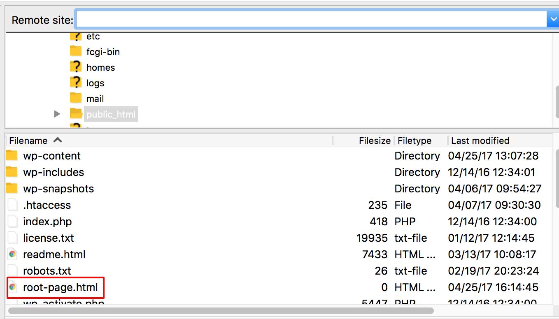 Téléchargement d'un fichier HTML dans votre répertoire WordPress