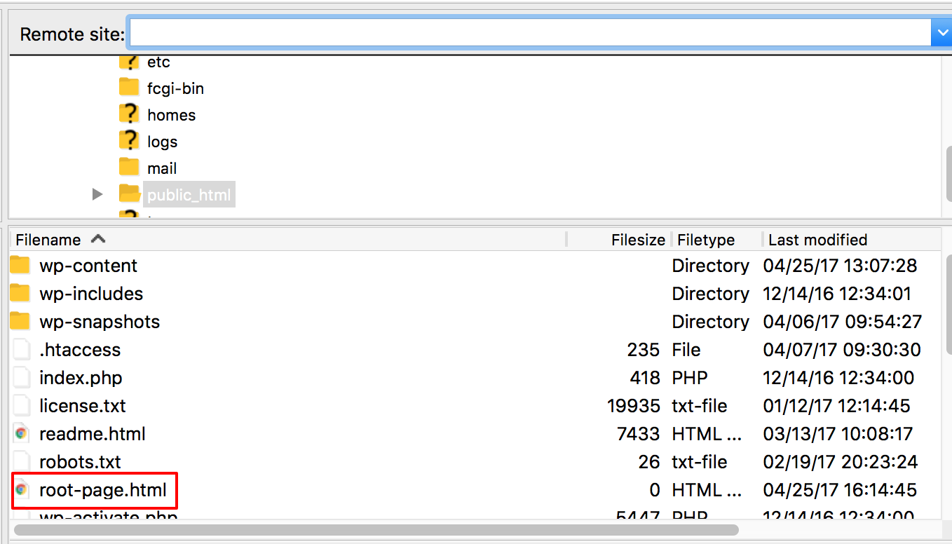Uploading an HTML file to your WordPress directory