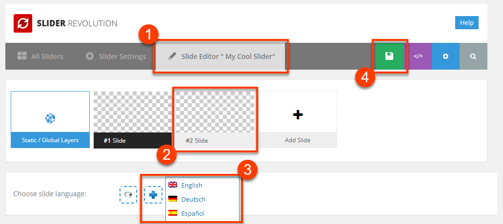 slider revolution wordpress how to add arrows