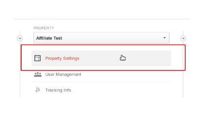 Property settings in GA