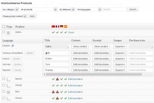 WooCommerce Multilingual 3.1 products listing